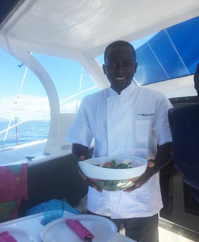 Catamaran rambling rose nosy be madagascar for Cuisinier bateau